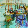 Boat painting Joan   Tom WC Provincetown boats
